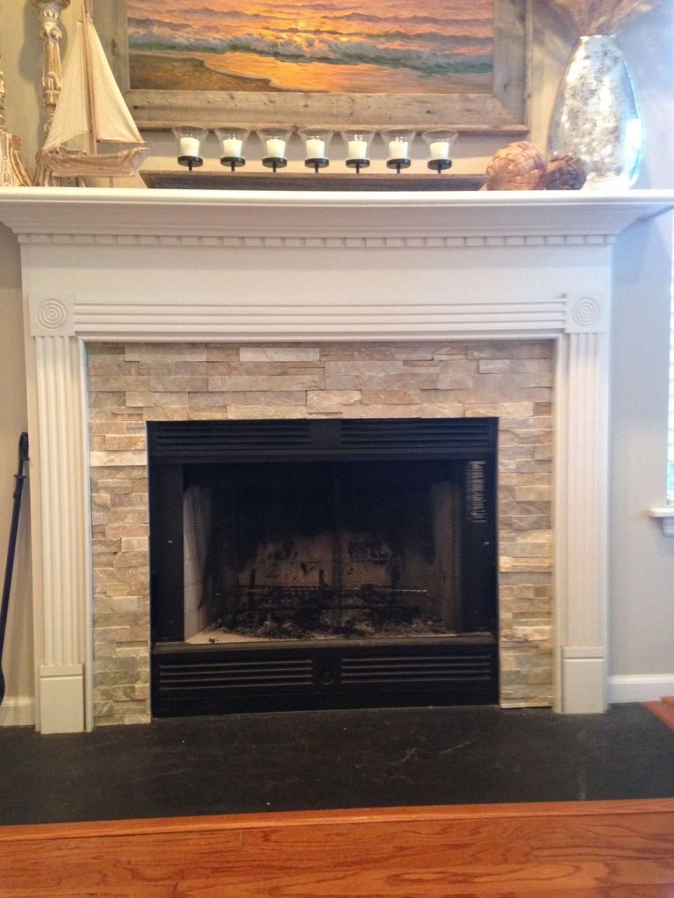 Fireplace Hearth Ideas with Tiles or Slate in 2020 (With