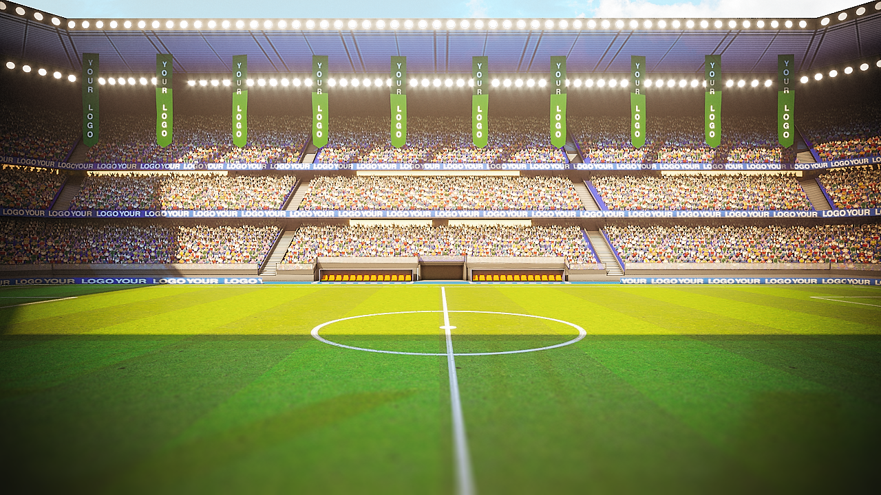 Football Soccer Stadium Game Ready 3d Model Soccer Stadium Stadium Football