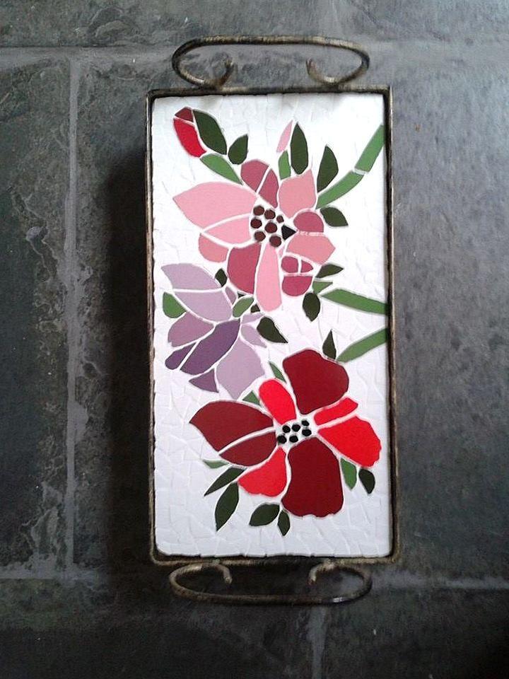 Resultado de imagen para flores con mosaicos   Flores con trencadis ...