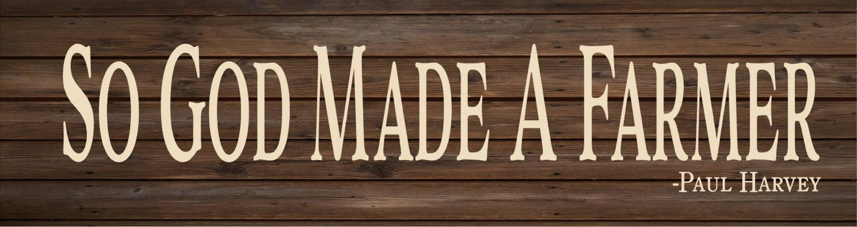 So God Made A Farmer Wood Sign Canvas Wall Art Or Photo Clip Frame