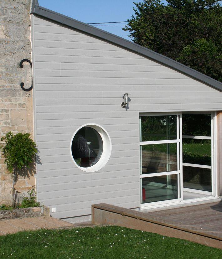 Scb canexel bardage clins fibres de bois isolation for Maison bardage bois gris