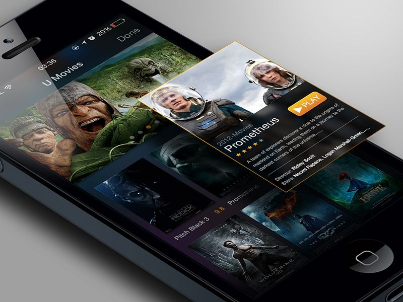 Movies app UI (If u click) - by Roy |#ui
