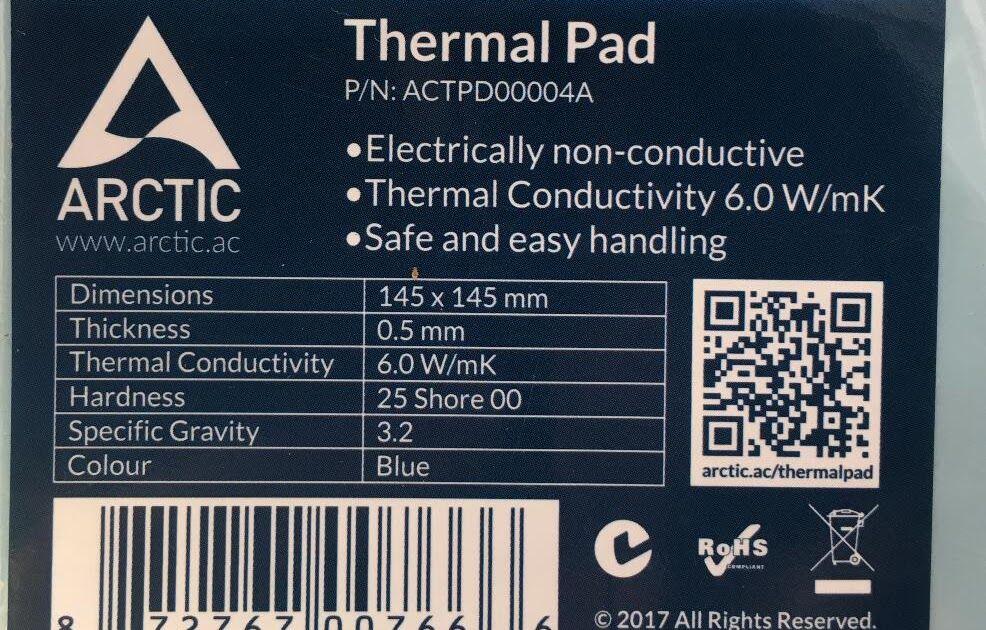 Buy Online ARCTIC AC Thermal pad 6 0 W/mK 0 5mm 1 0mm 1 5mm High