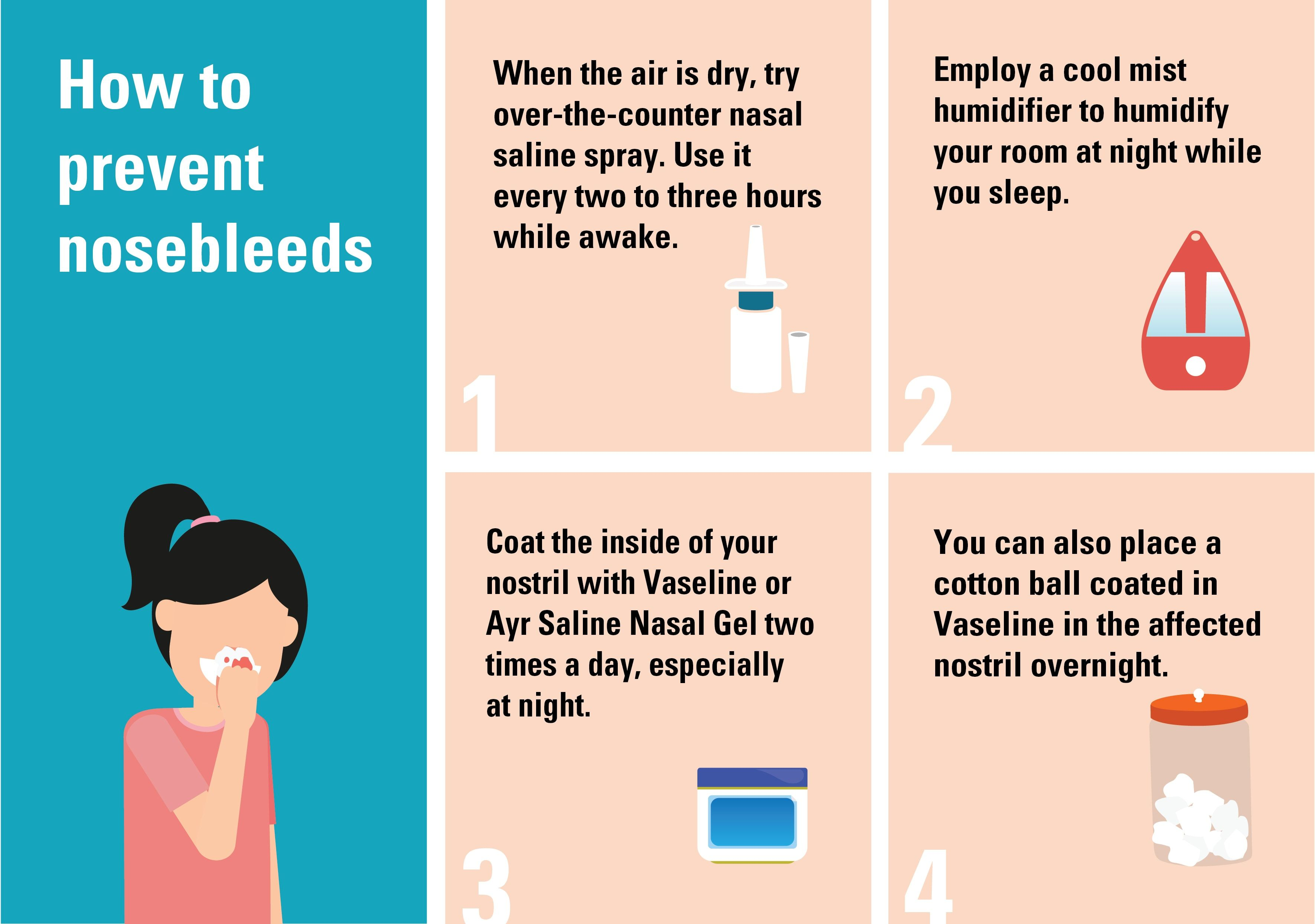 How To Stop A Nosebleed Inforgraphic