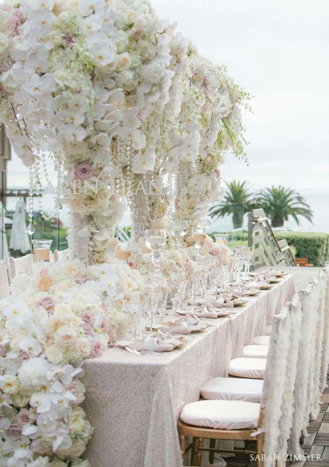 Wedding Reception Decoration : Long Tables