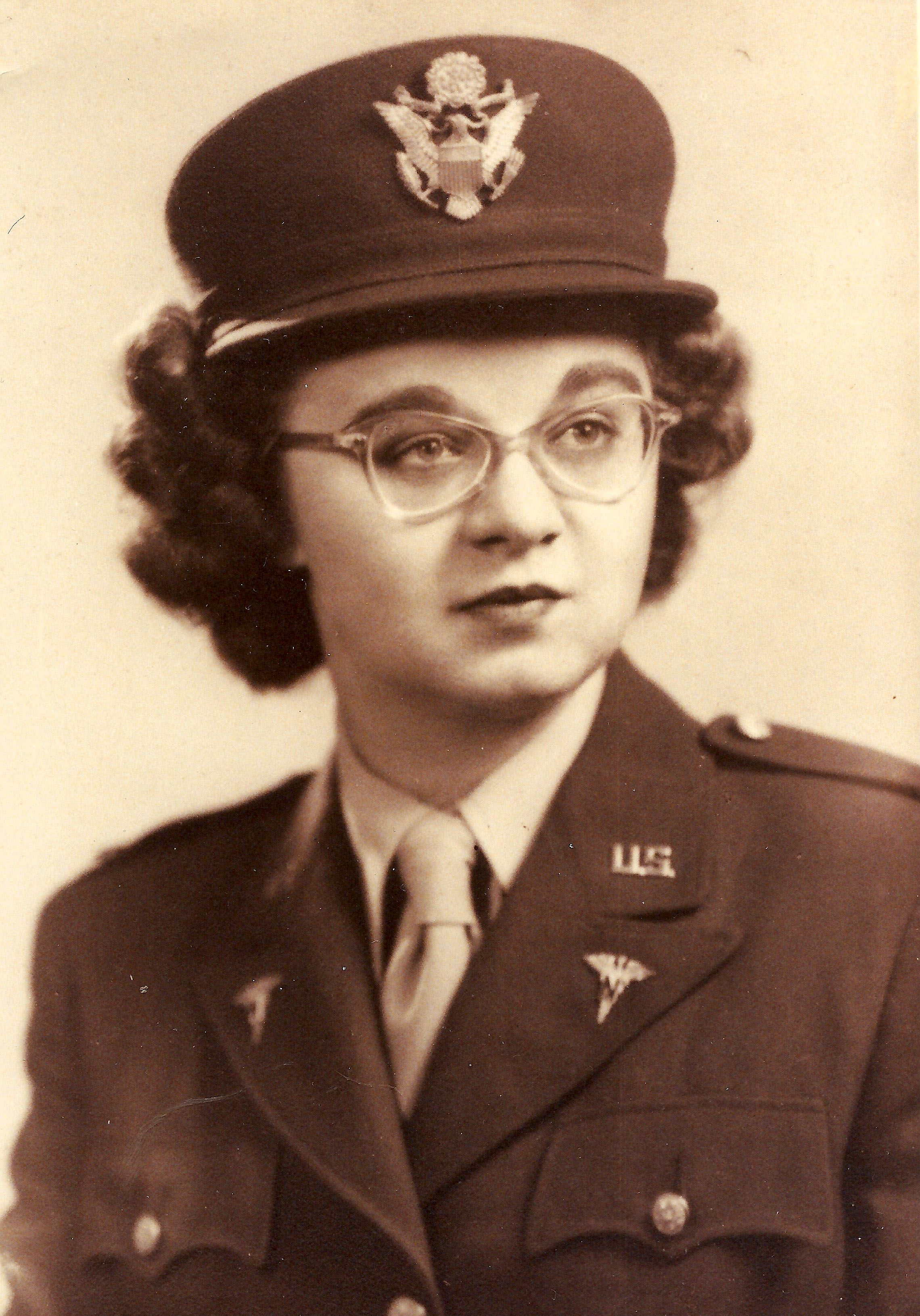 Mary Quesnel enlisted in the Army Nurse Corps in 1944