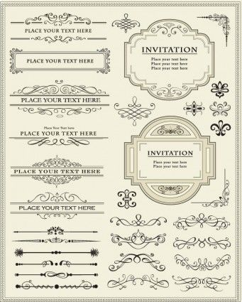 Europeanstyle lace border 01 vector elements for a gatsby style europeanstyle lace border 01 vector elements for a gatsby style invite stopboris