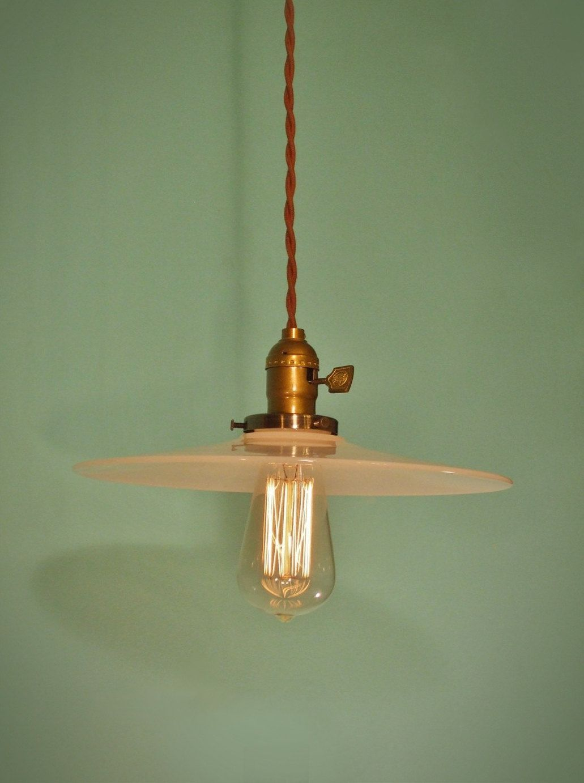 Vintage Industrial Hanging Light - Machine Age Minimalist Bare Bulb ...