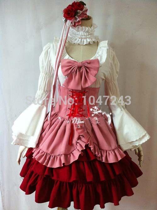 Umineko When They Cry Furudo Erika Dress Cosplay Costume Cosplay Costume