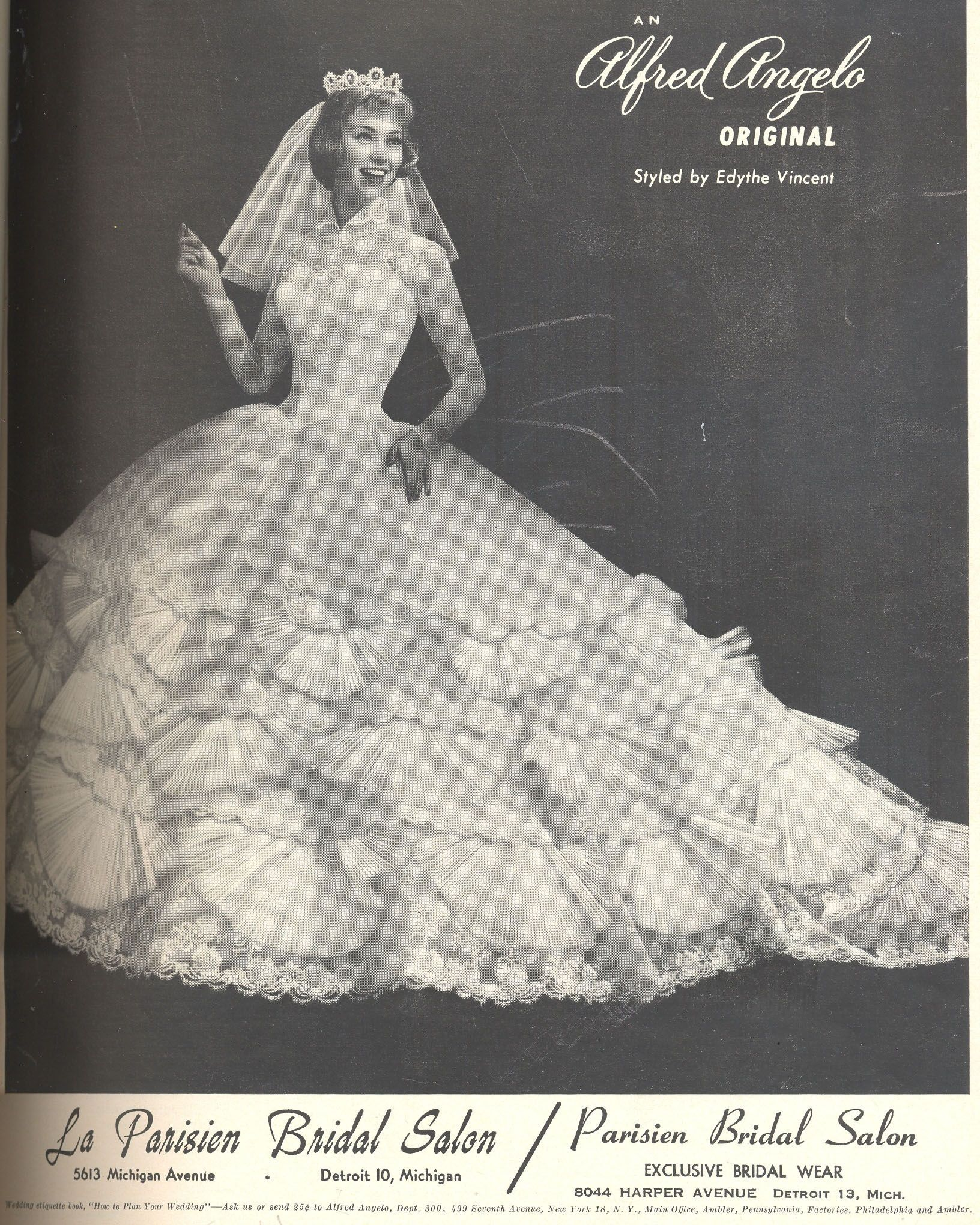 Alfred Angelo original styled by Edythe Vincent from 1958 | Wedding ...