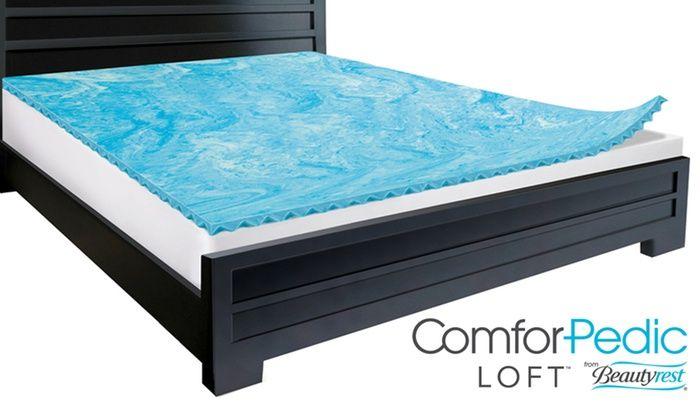 Beautyrest Comforpedic Loft 2 Gel Memory Foam Reversible Topper