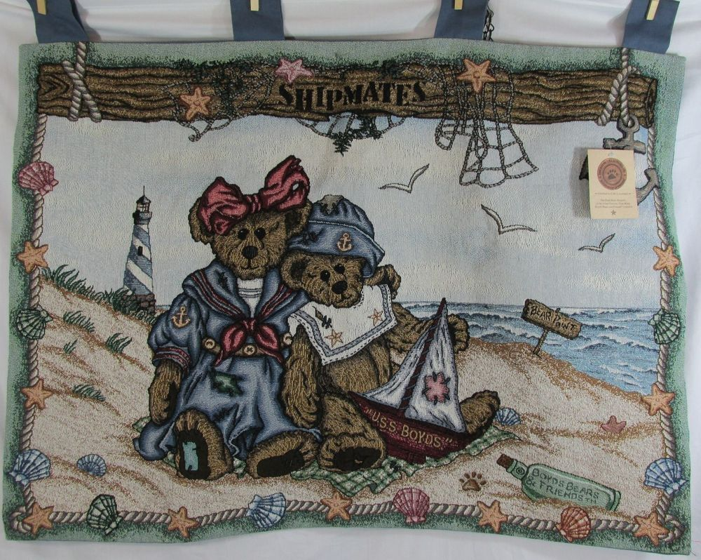 Boyds Bears Shipmates Wall Hanging Tapestry Decor