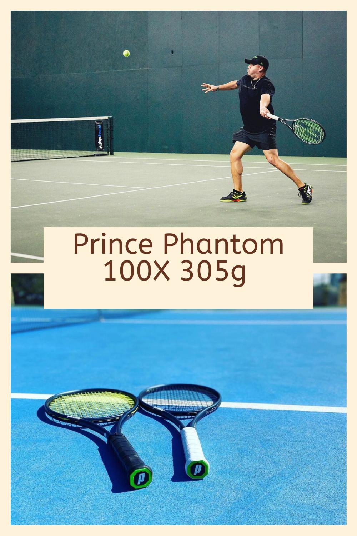 Prince Phantom 100x 305g Tennis Racquet Review 2020 Racquet Intermediate Or Advanced Player In 2020 Tennis Racquet Tennis Tennis Racket