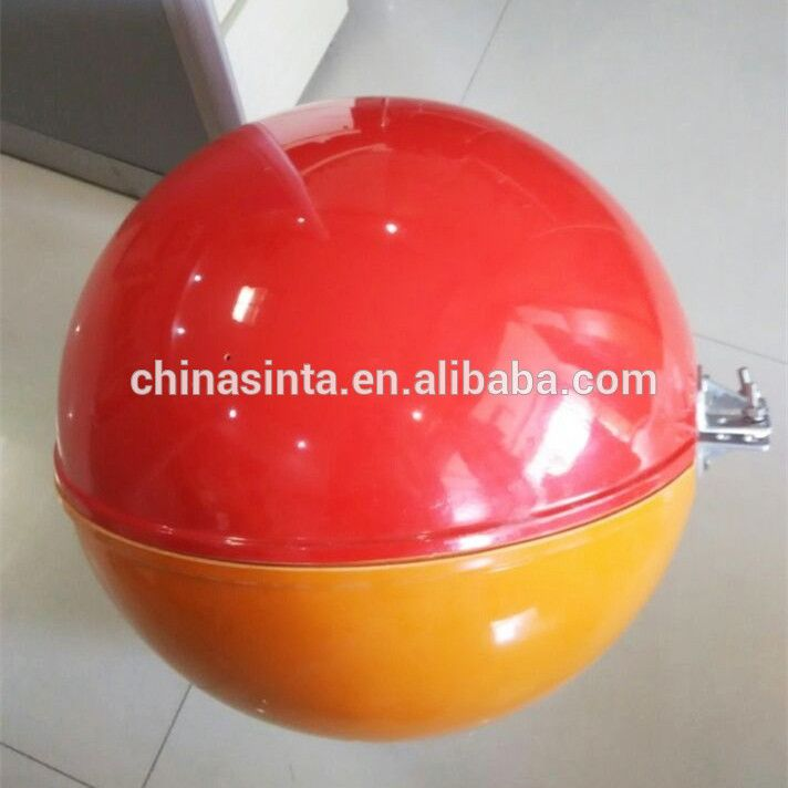 Aircraft Marking Balls For High Voltage Lines Sphere Fiberglass