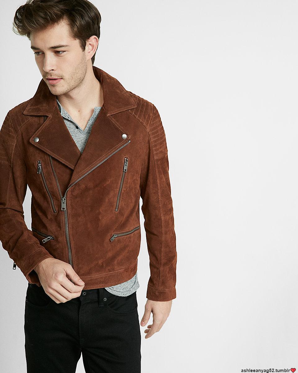 Francisco Lachowski Francisco Lachowski Genuine Suede Leather Jacket