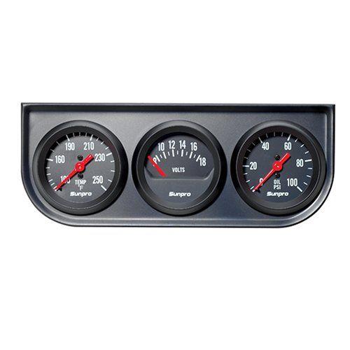 sunpro cp8218 triple gauge kit black dial price art sunpro voltmeter wiring-diagram sunpro temperature gauge wiring diagram #11