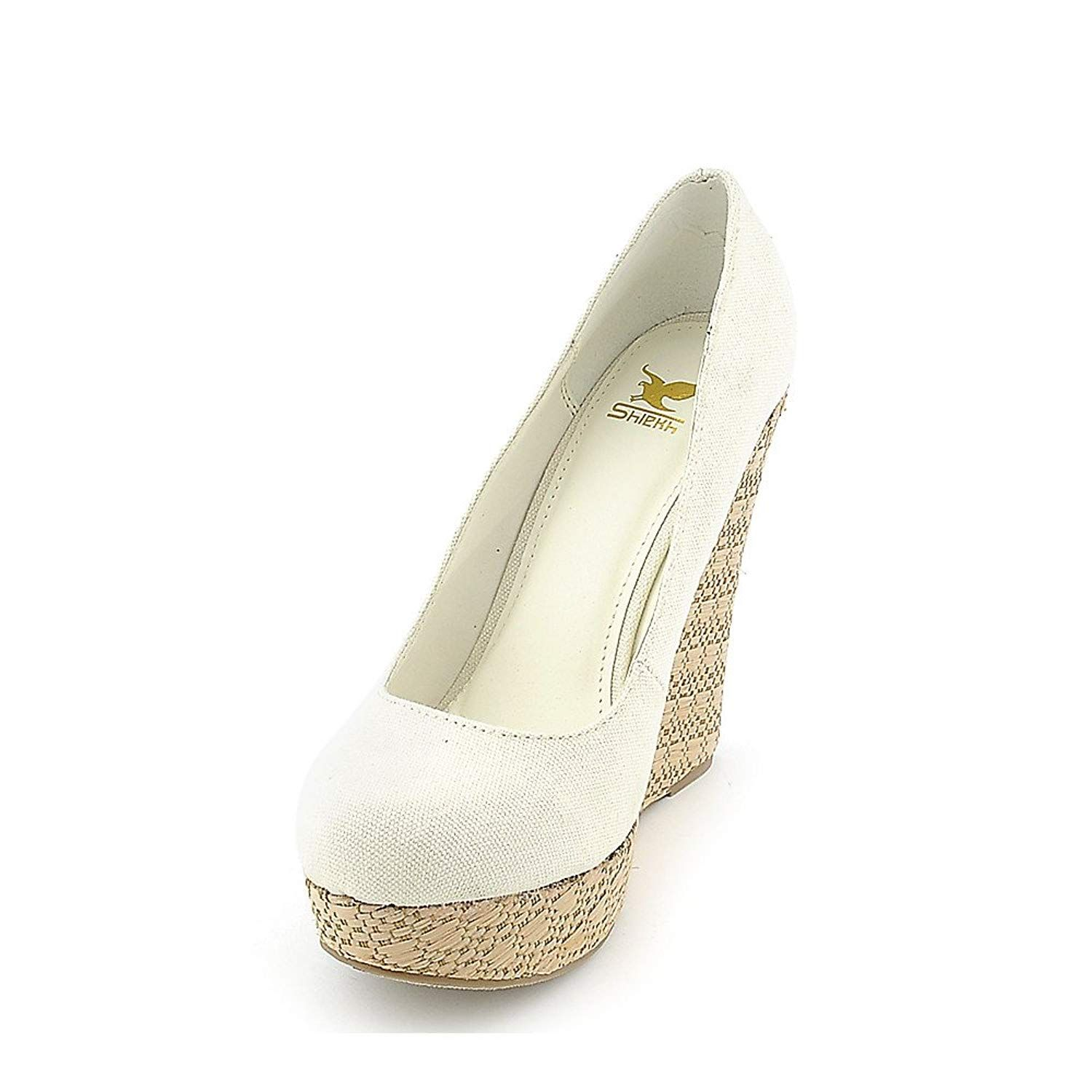 7f29caf8559e Delicious Womens Glow-S Casual Wedge. Taupevegan suede espadrille wedges  from the Shiekh Shoes