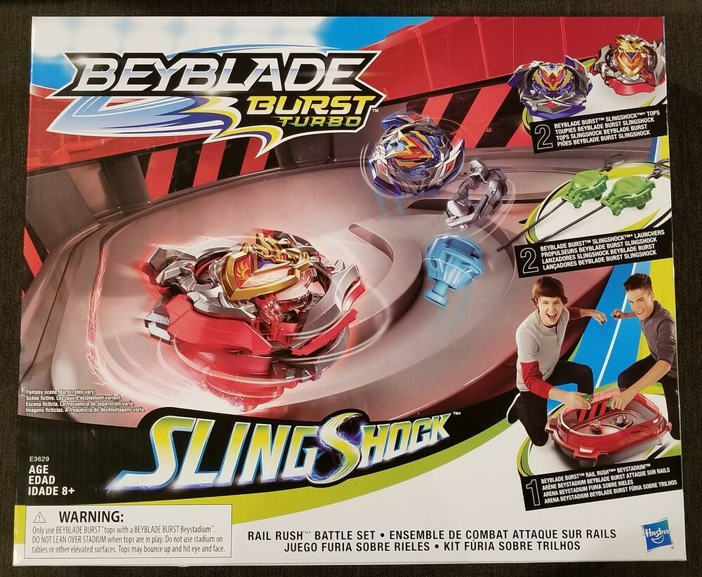 BEYBLADE BURST TURBO Sling Shock Rail Rush Battle Set 2 Tops