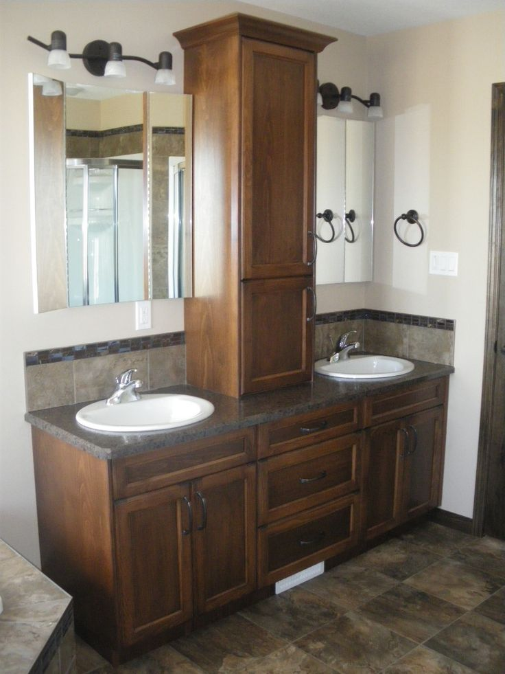 Lighting Basement Washroom Stairs: Storage Tower Image Result For Double Sink Vanity