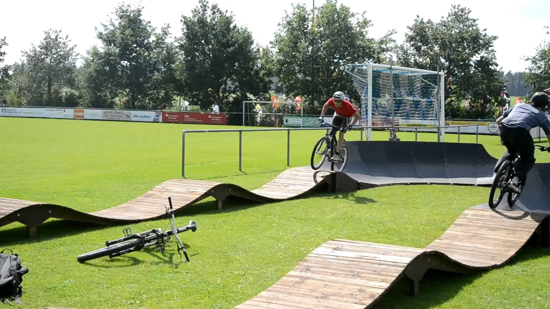 wooden pump track Google Search Bike pump track