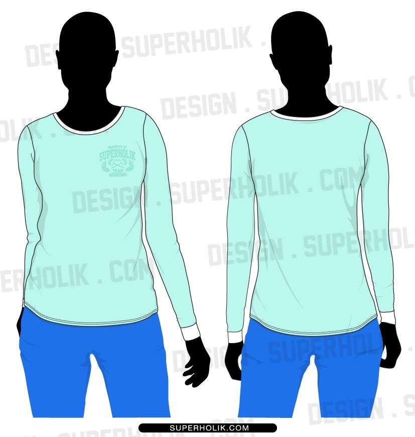 Download Women S Long Sleeve T Shirt Vector Template For Fashion Designer Fashion Vector Fashion Drawing Women Long Sleeve