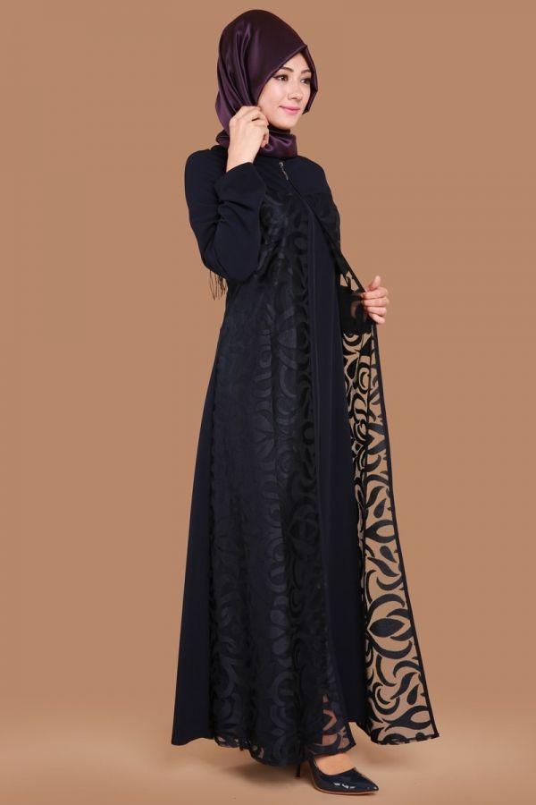 Onden Fermuarli Yakma Detay Ferace Laci Urun Kodu Mds5153 S 79 90 Tl Uzun Elbise Moda Stilleri The Dress