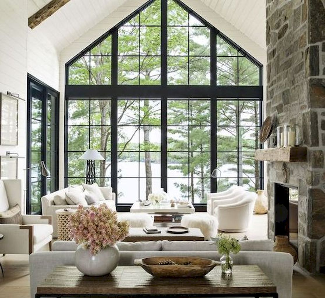 Cozy Lake House Living Room Decor Ideas 21 Farm House Living