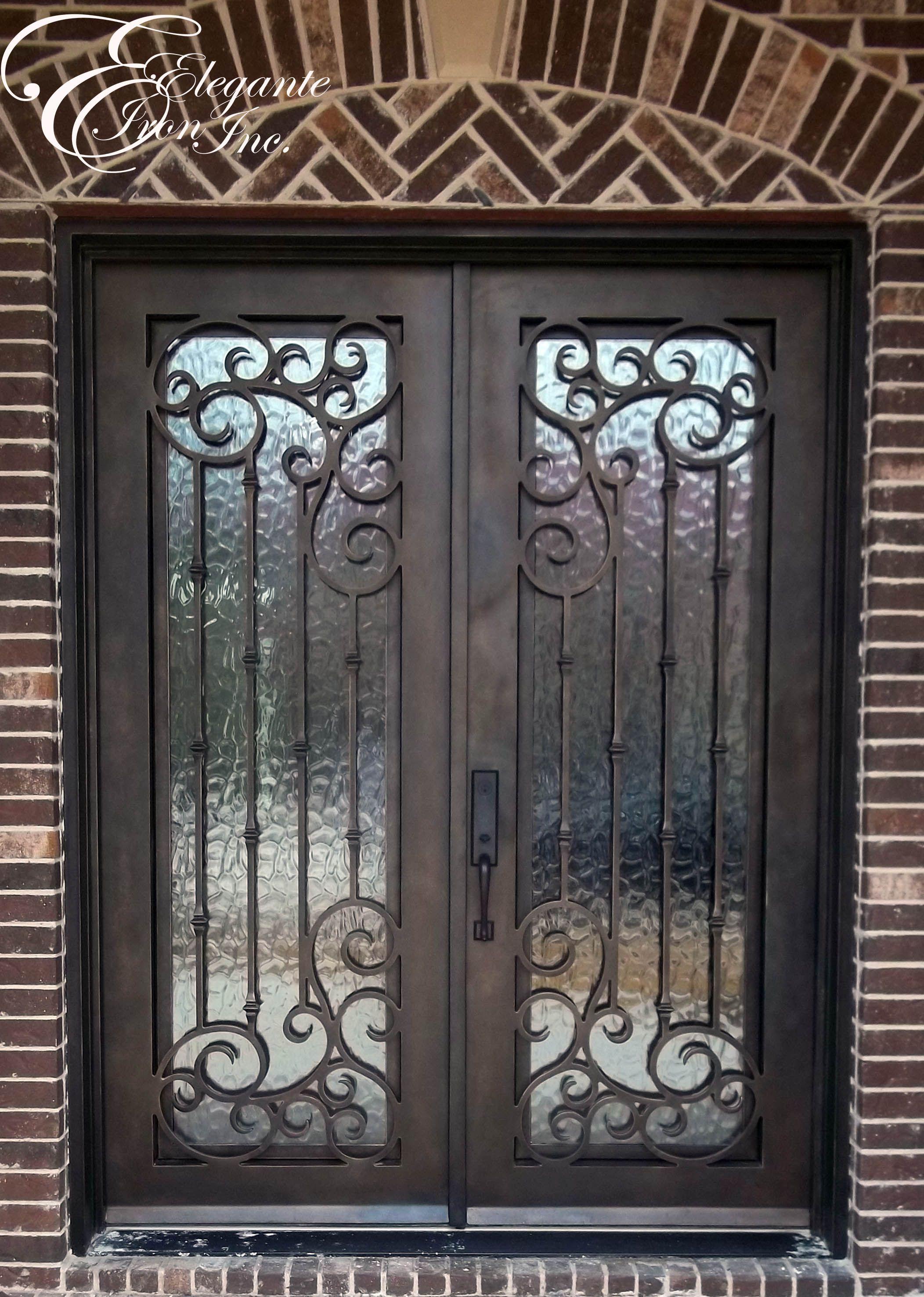 Custom Wrought Iron Front Door Wrought Iron Front Door Iron