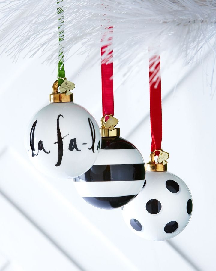 Kate Spade Black & White Christmas Ornaments on shopstyle.com ...