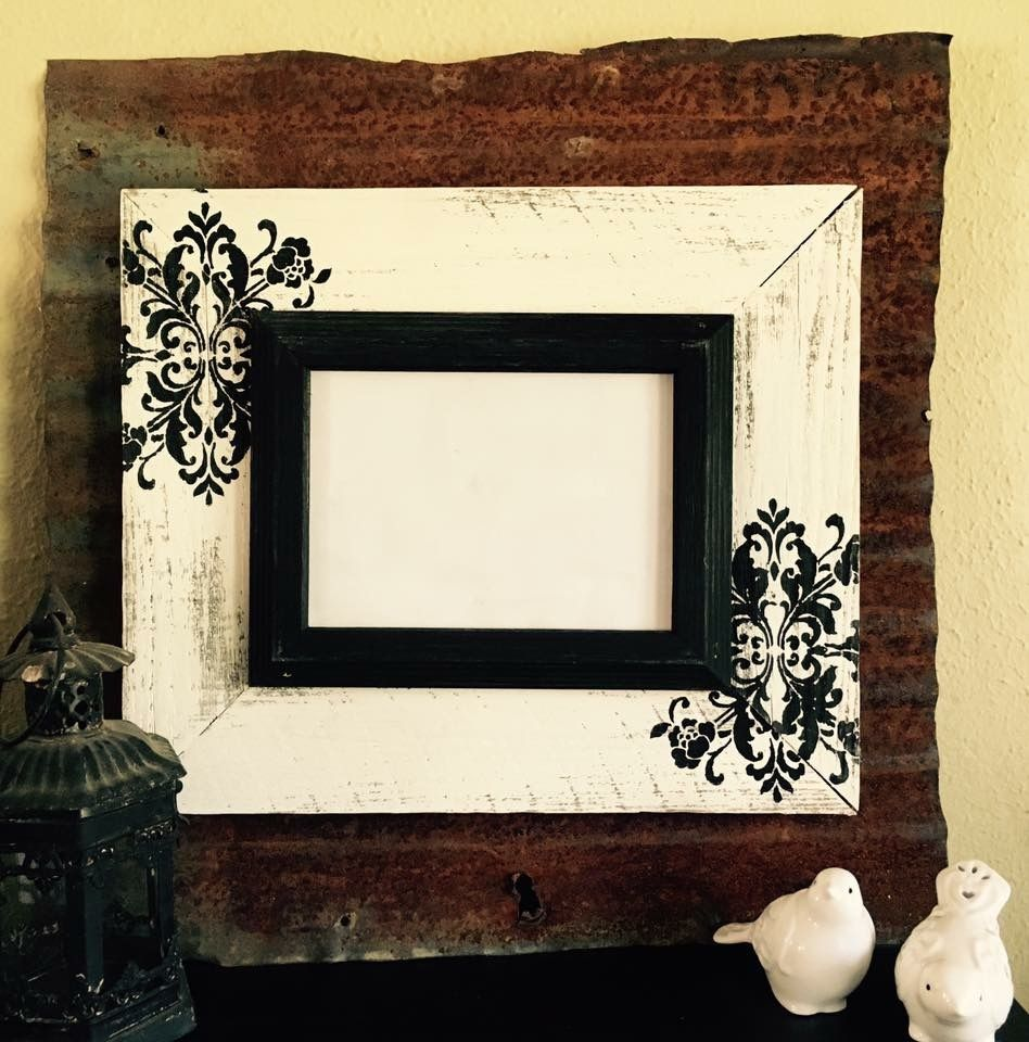 Old rusty tin picture frame | Wayne Williams Wood Works | Pinterest ...
