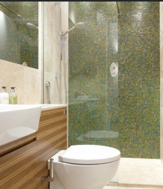 salle de bain moderne avec une douche à l\u0027italienne et un mur en - Salle De Bain Moderne Douche Italienne