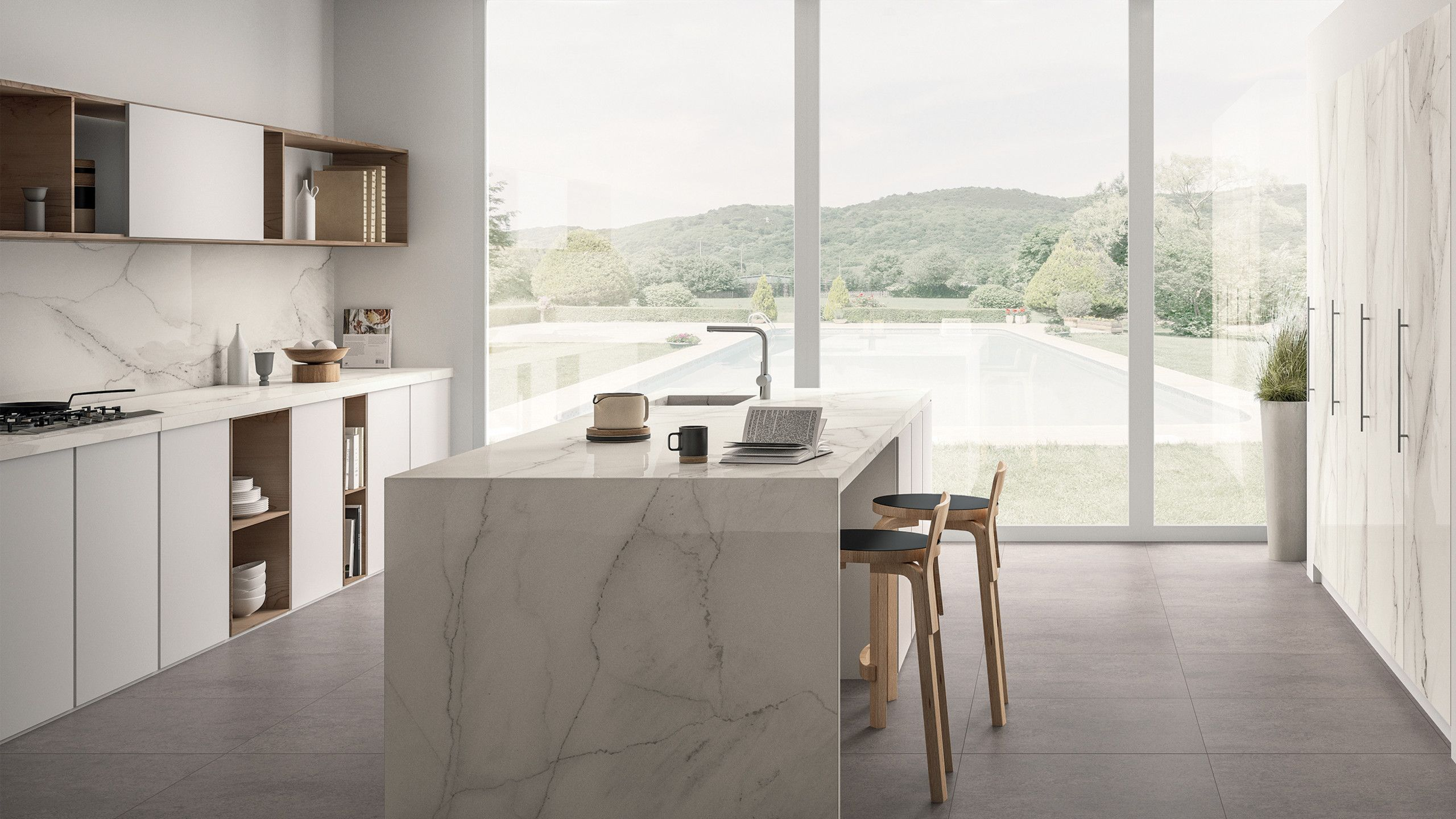 Gallery - Magnifica Tile And Magnifica Slab In Kitchen