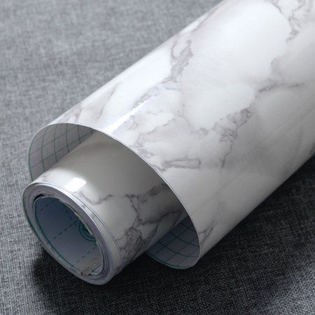 Meigar Marble Self Adhesive Vinyl Film ,White Grey