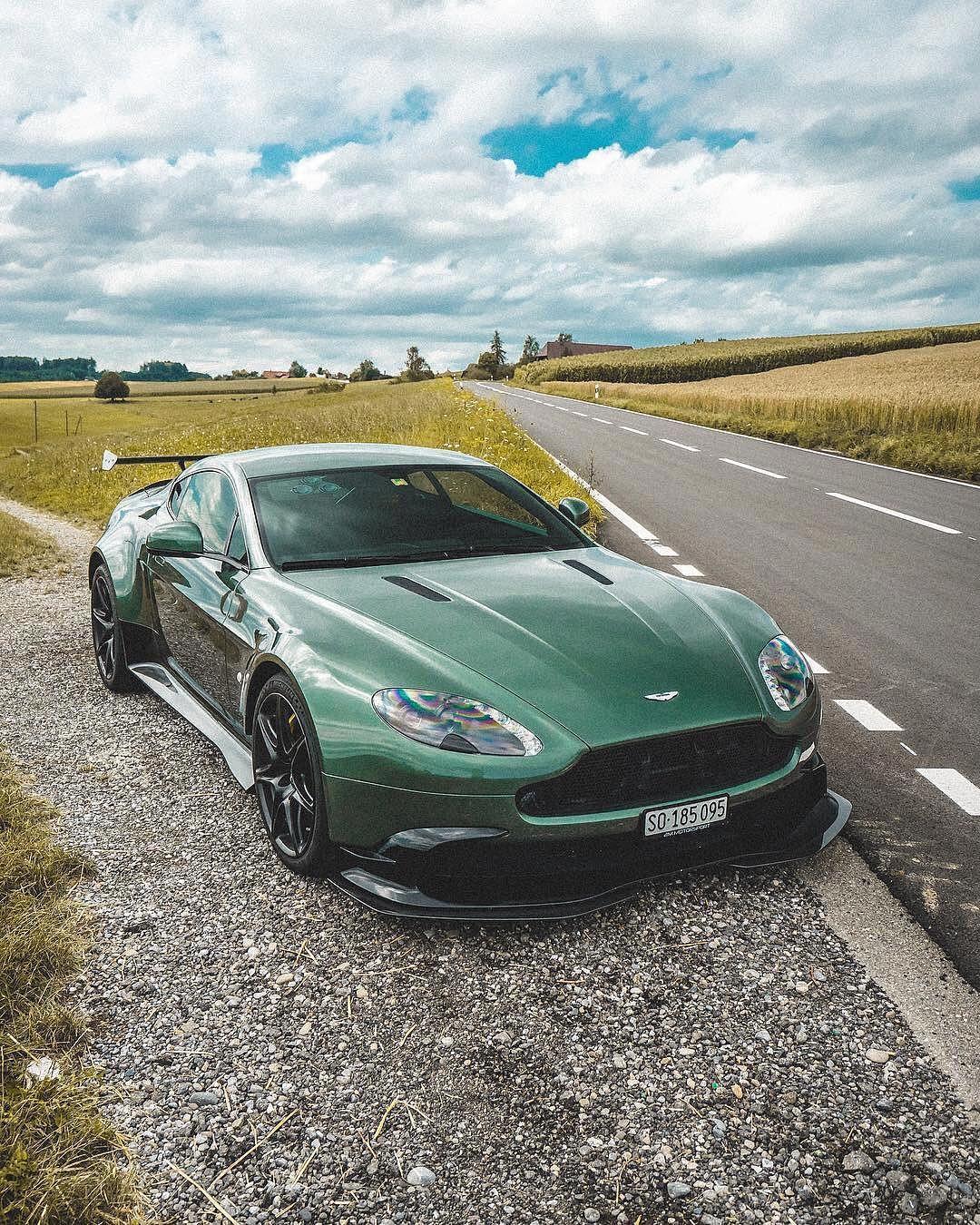 British Green Aston Martin GT8 Vantage..