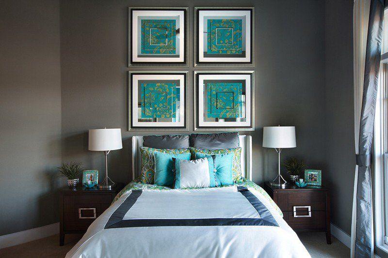Bleu turquoise et gris en 30 idées de peinture et décoration Turquoise - peinture chambre gris et bleu