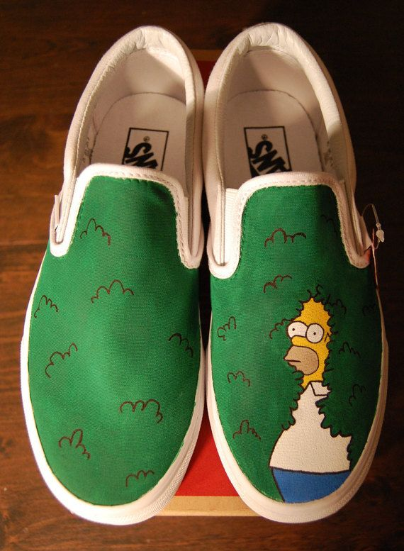 a762901bfcb0 I painted these Homer shoes and Reddit went bananas for them. They made the  front page and are currently the top post of all time on