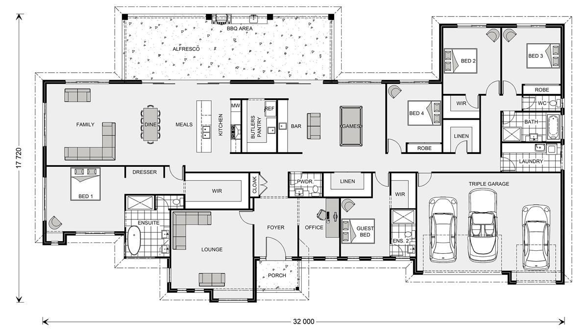 Floor Plan Friday 5 Bedroom Acreage Style Home With Triple Garage Katrina Chambers Lifestyle Blogge House Plans Australia House Floor Plans House Flooring