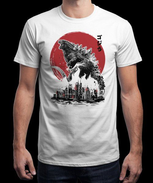 """Gojira Attack"" is today's £9/€11/$12 tee for 24 hours only on Pin this for… 