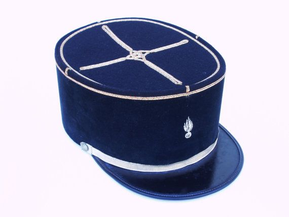 French Kepi Hat Army Military Police Vintage Foreign Legion Helmet Cap Black Gold Traditional Costume Hats Military Hat Police Hat