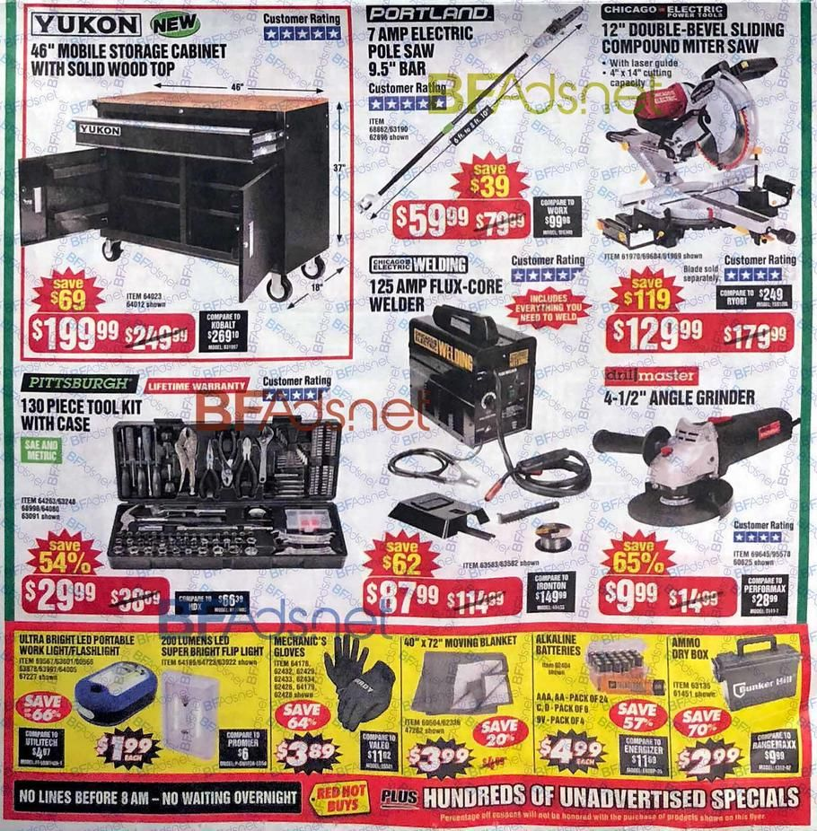 Harbor Freight Black Friday 2018 Ads and Deals Black