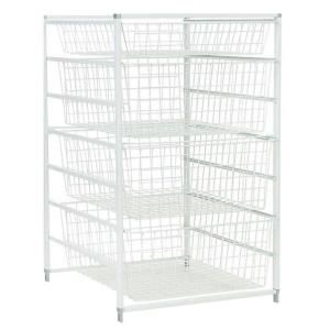 Possible closet mod. check measurements of closet before buying. ClosetMaid 17 in. Drawer Kit with 4 Wire at The Home Depot  sc 1 st  Pinterest & ClosetMaid 30 in. H Drawer Kit with 4 Wire Baskets | Wire basket ...