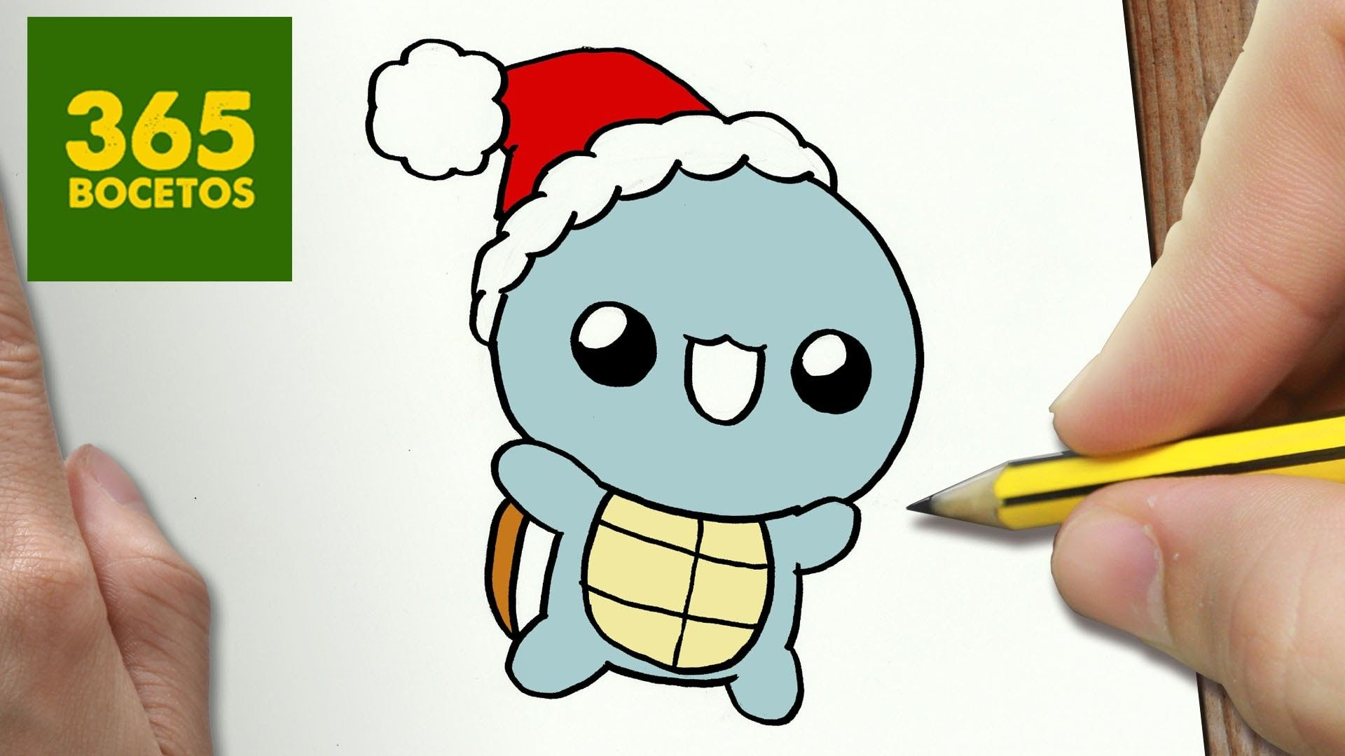 Como Dibujar Un Squirtle Para Navidad Paso A Paso Dibujos Kawaii