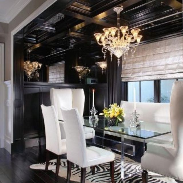 Most Lucrative Dining Room Interior Design Ideas To Beauty: Home Decor, Black White Rooms