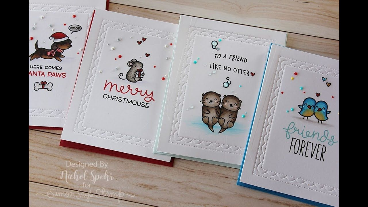 Four Cards One Stamp Set Simon Says Stamp Cyber Monday Exclusive