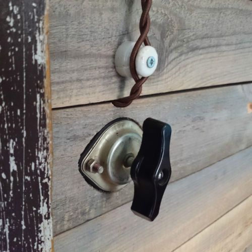 Old Electrical Equipment Rolls Light Switch