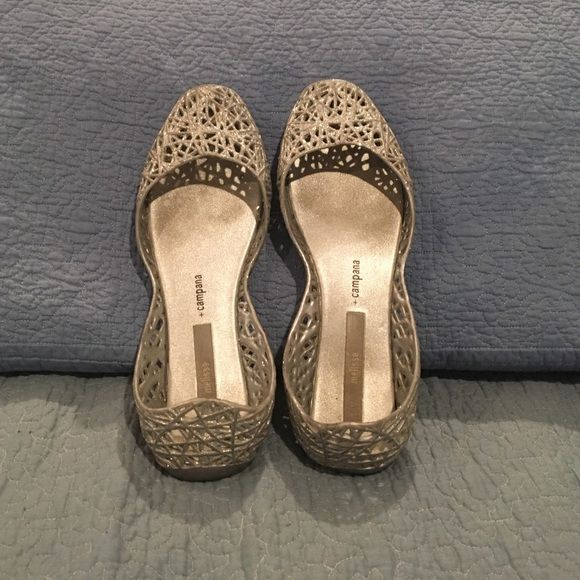 Melissa Campana Silver Melissa Campana sandals Melissa Shoes