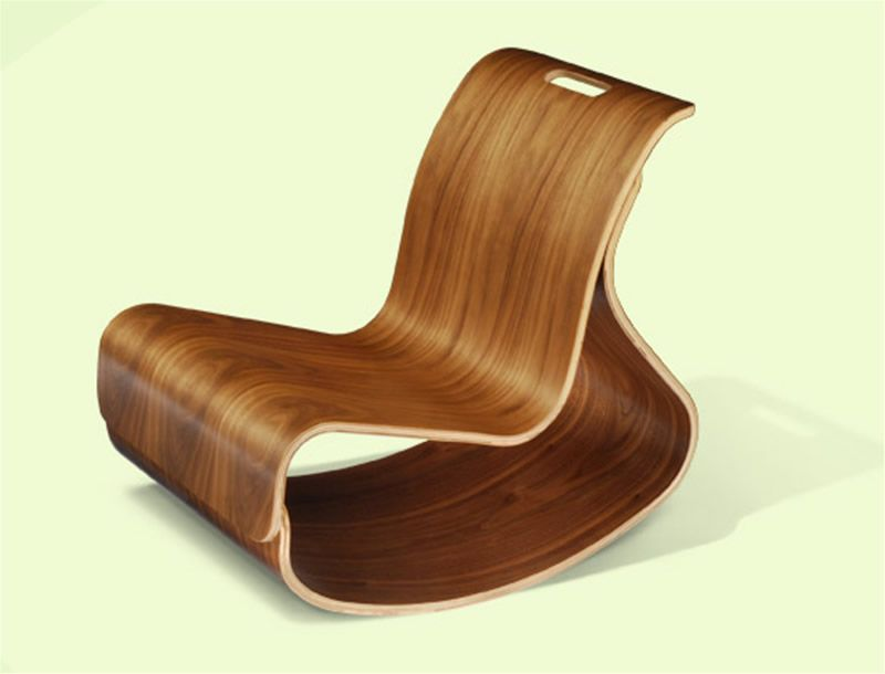 wood chairs  Unique Wood Rocking Chair Design for Children Furniture ...