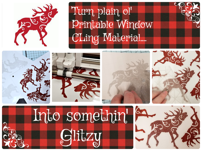 Bling Up Your Window Cling With Glitter Vinyl Window Cling Vinyl Window Clings Christmas Vinyl Projects