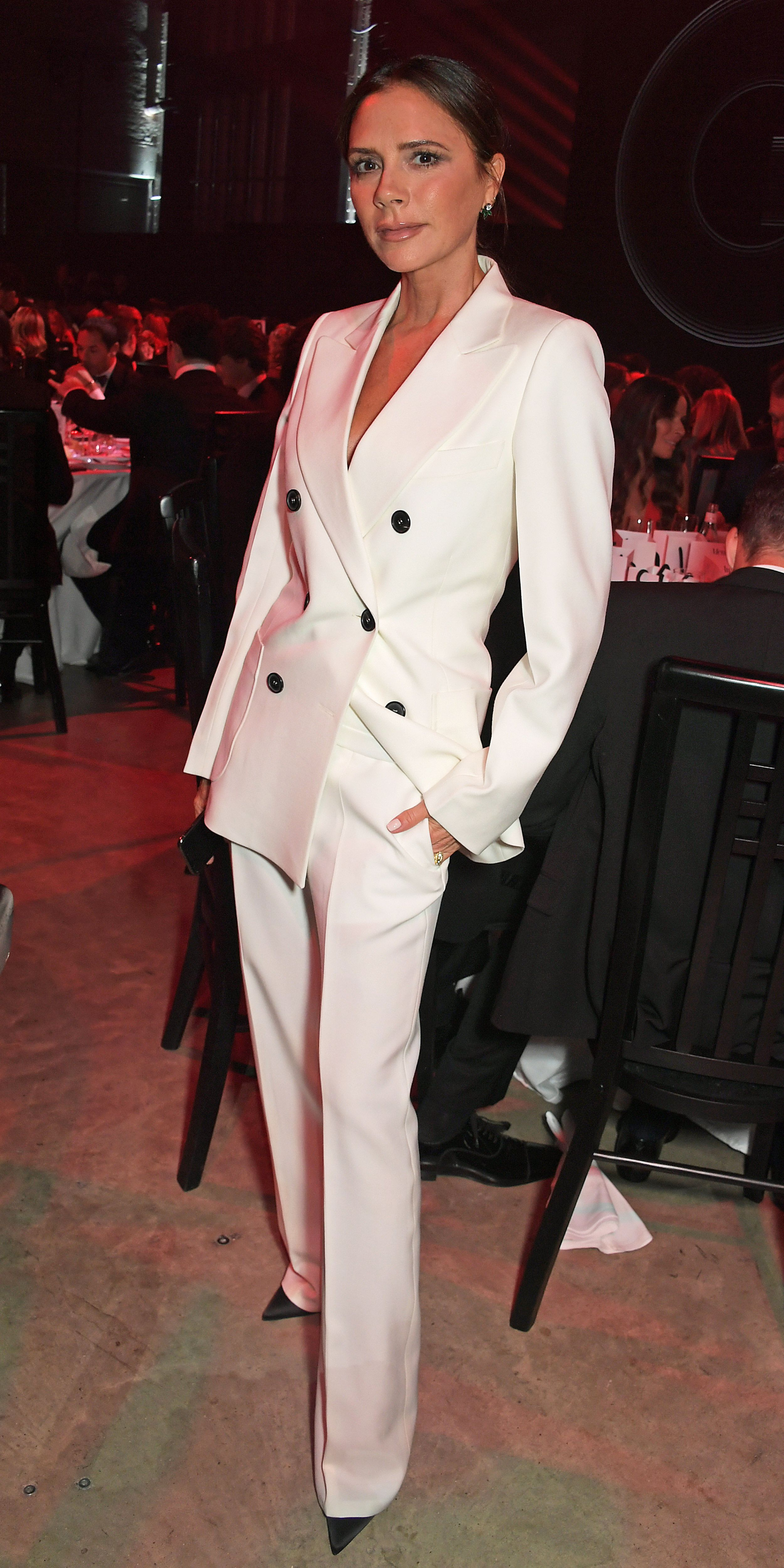 Look of the Day Fashion, Victoria fashion, Beckham suit