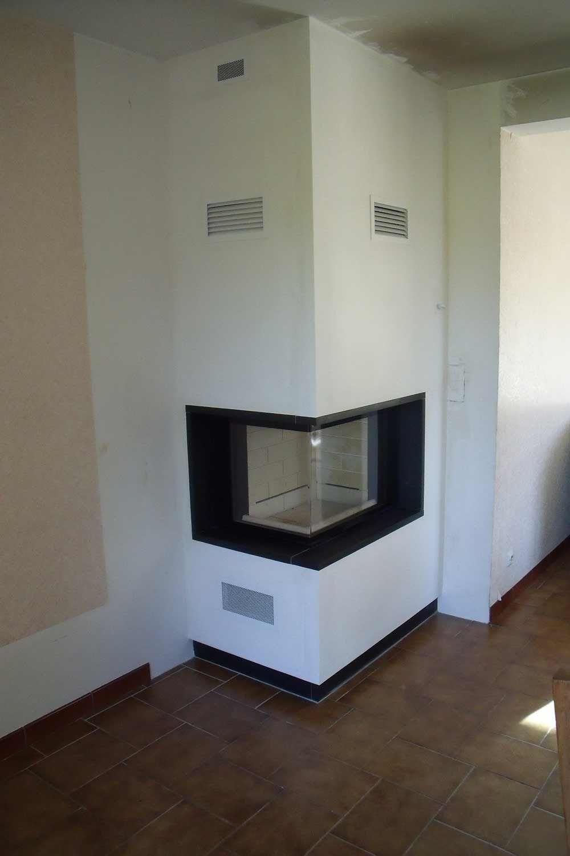 Habillage Cheminée D Angle cheminee insert angle | cheminée d'angle, cheminée bois